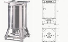 HS - Цилиндрический IBC контейнер для жидкостей с подогревом